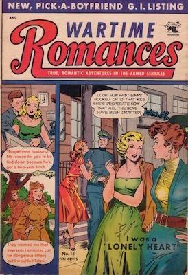 Wartime Romances #13: Matt Baker cover. Click for values