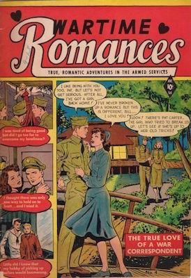 Wartime Romances #4: Matt Baker cover. Click for values