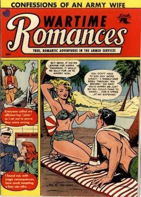 Wartime Romances #8: Matt Baker cover. Click for values