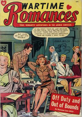 Wartime Romances #2: Matt Baker cover. Click for values