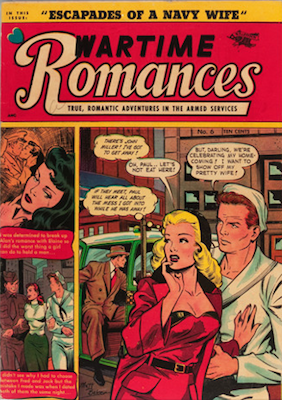 Wartime Romances #6: Matt Baker cover. Click for values