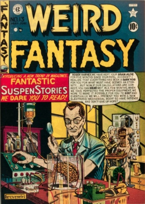 Weird Fantasy #13 (May/June 1950): Fantasy Gets Even Weirder. First issue. Click for values