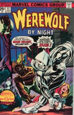 Hot Comics #7: Werewolf by Night #32, 1st Moon Knight. Click to buy a copy