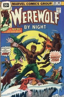 Werewolf by Night #38 30 Cent Price Variant May, 1976. Starburst Flash