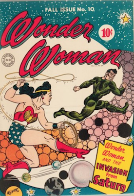 Wonder Woman #10: Classic Sci-Fi Invasion cover. Click for values