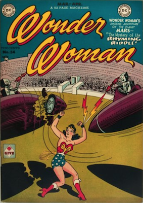 Wonder Woman #34: Classic Robot cover. Click for value