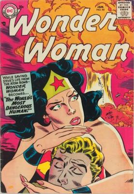 Wonder Woman Comics #95: Classic Atom Bomb Cover. Click for value