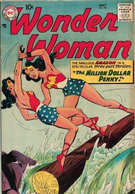 Wonder Woman #98:1st Appearance of Wonder Girl; New origin story begins. Click for value