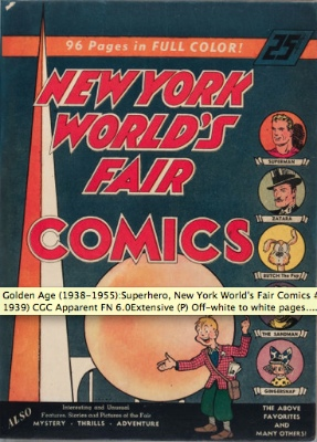 World's Fair Comics 1939: First Appearance, The Sandman. Click for values