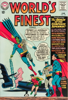 Origin and First Appearance, Composite Superman, World's Finest Comics #142, DC Comics, 1964. Click for value