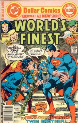 Origin and First Appearance, Baron Blitzkrieg, World's Finest Comics #246, DC Comics, 1977. Click for value