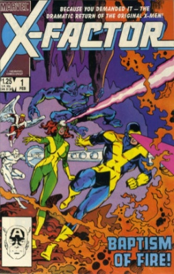 Origin and First Appearance, X-Factor, X-Factor #1, Marvel Comics, 1986. Click for value