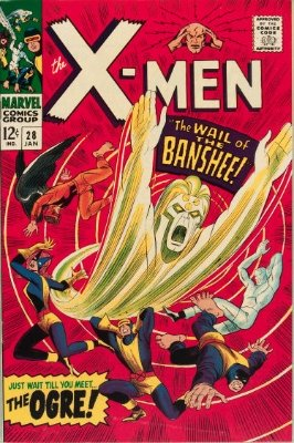 X-Men #28: 1st Appearance of Banshee. Click for values