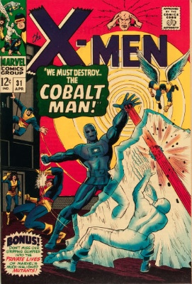 Origin and First Appearance, Cobalt Man, X-Men #31, Marvel Comics, 1967. Click for value