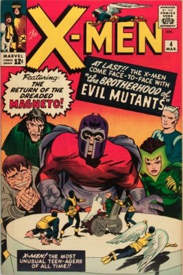 Origin and First Appearance, Quicksilver, The X-Men #4, Marvel Comics, 1964. Click for value