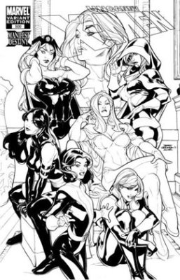Uncanny X-Men #500 (2008) Sketch Variant. Click for values