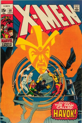 X-Men Comics #58: 1st Appearance of Havok in costume. Click for value