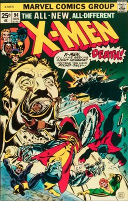X-Men #94: origin and first appearance of the New X-Men team. Click for values