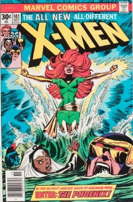 Origin and First Appearance, Phoenix, Uncanny X-Men #101, Marvel Comics, 1976. Click for value