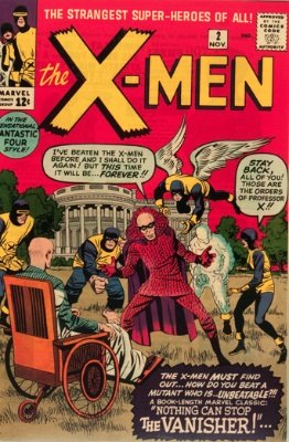 Origin and First Appearance, Vanisher, X-Men #2, Marvel Comics, 1963. Click for value