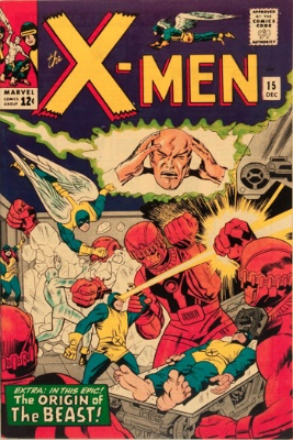 X-Men #15: origin of The Beast. Click for values