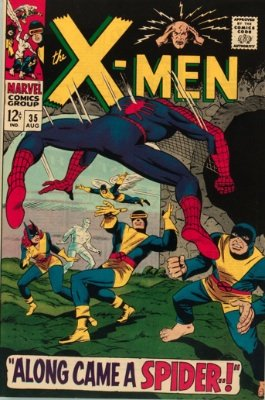 X-Men comic #35: Amazing Spider-Man cover and crossover story