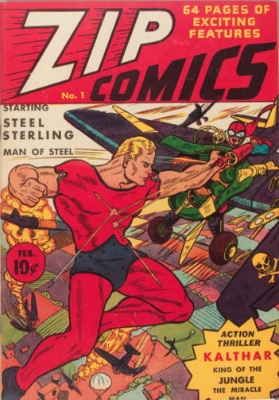 Zip Comics #1: First Appearance, The Scarlet Avenger. Click for values