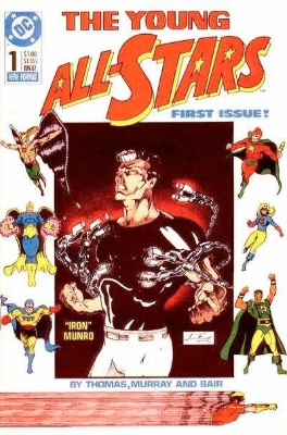 Origin and First Appearance, Axis Amerika, Young All-Stars #1, DC Comics, 1987. Click for value